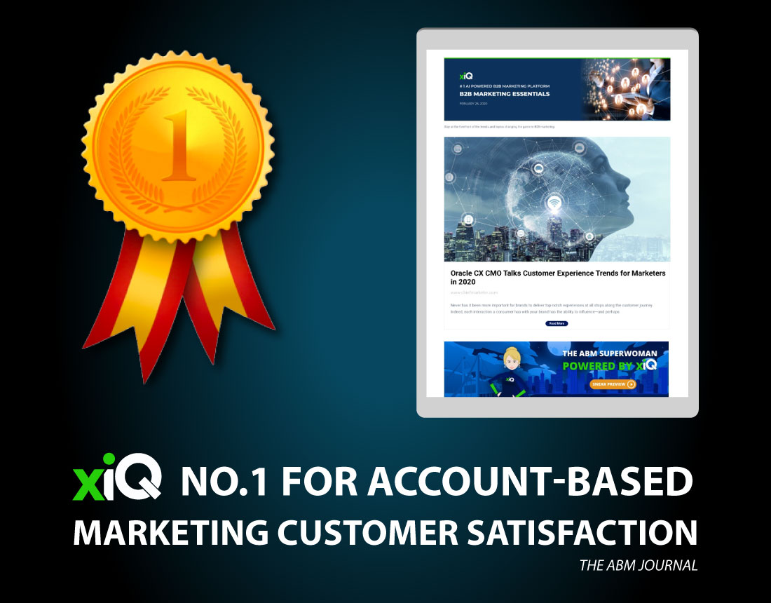 xiQ – No.1 for Account-Based Marketing Customer Satisfaction
