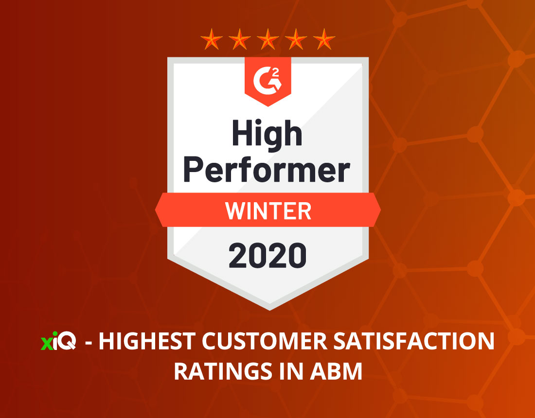 xiQ receives the highest customer satisfaction ratings for Account-Based Marketing