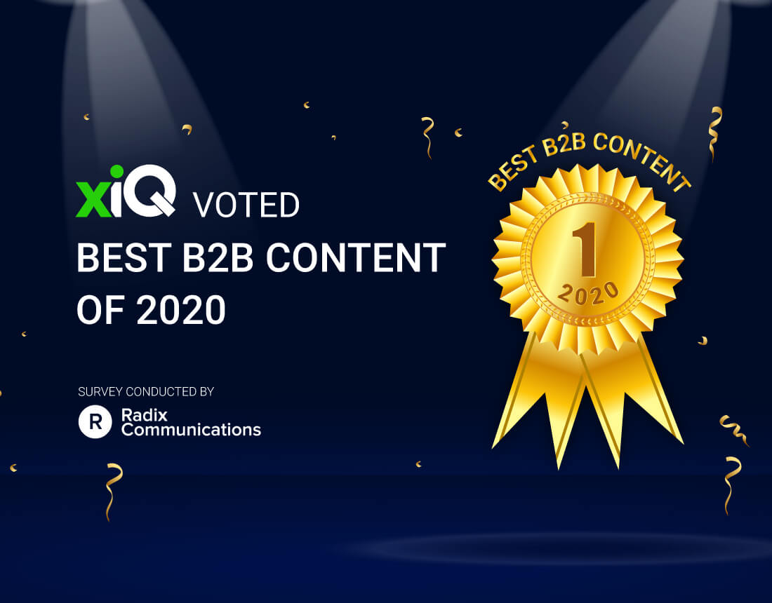 Innovate or Die – xiQ WINS Best B2B Content of 2020 Award!